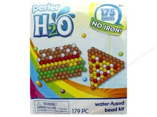beading & jewelry making supplies: Perler H2O Water Fused Bead Kit Trial Hamburger & Pizza
