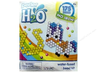 beading & jewelry making supplies: Perler H2O Water Fused Bead Kit Trial Pony & Horseshoe