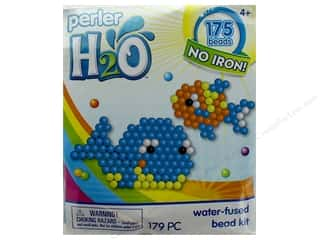 beading & jewelry making supplies: Perler H2O Water Fused Bead Kit Trial Fish & Whale
