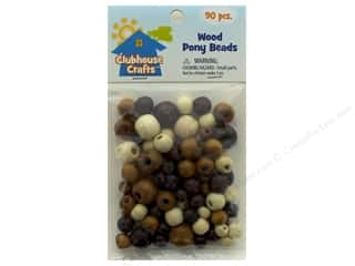 beading & jewelry making supplies: Sulyn Clubhouse Crafts Pony Beads Wood 90 pc