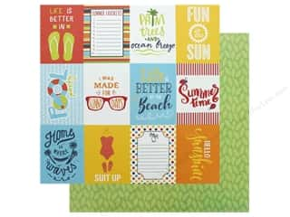 scrapbooking & paper crafts: Authentique Collection Summertime Paper 12 in. x 12 in. Six (25 pieces)