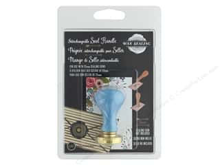 Manuscript Wax Sealing Handle - 25 mm Blue