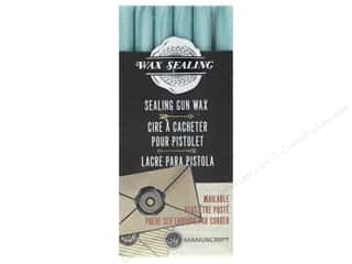 Manuscript Wax Sealing Gun Wax 6 pc Aqua