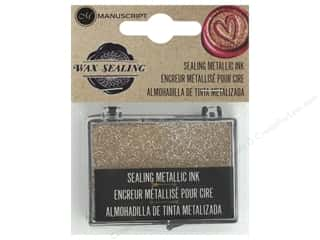 Manuscript Sealing Metallic Ink Pad - Gold
