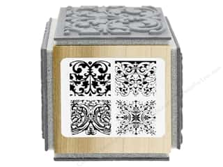 stamp cleaner: Stampendous Cling Rubber Stamp Fran's Cube Ornate Tiles Texture