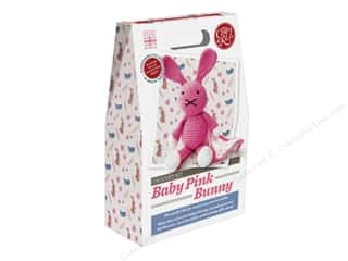 yarn & needlework: Crafty Kit Company Kit Crochet Baby Pink Bunny