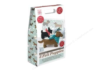 Projects & Kits: Crafty Kit Company Kit Sewing 3 Felt Puppies