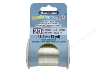 Craft & Hobbies: Beadalon ColourCraft Wire - 20 ga Silver 15 yd.