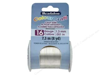 Beadalon ColourCraft Copper Wire 16 ga Silver 8 yd