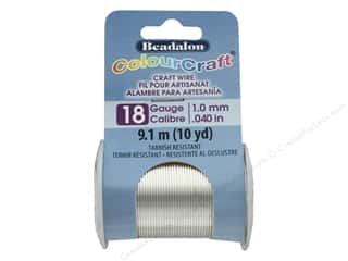 Beadalon ColourCraft Copper Wire 18 ga Silver 10 yd