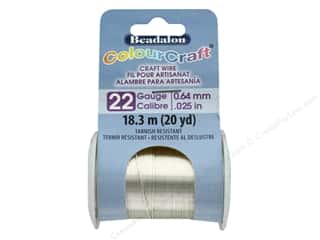 craft & hobbies: Beadalon ColourCraft Copper Wire 22 ga Silver 20 yd