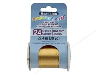 Beadalon ColourCraft Copper Wire 24 ga Brass Light 30 yd