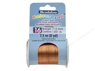 Beadalon ColourCraft Copper Wire 16 ga Copper 8 yd