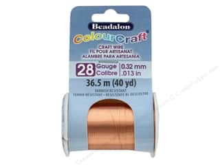 Beadalon ColourCraft Copper Wire 28 ga Copper 40 yd