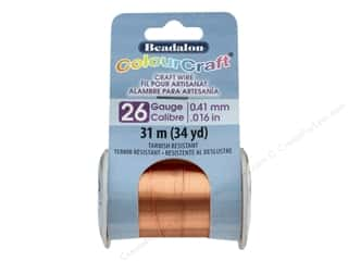 Beadalon ColourCraft Copper Wire 26 ga Copper 34 yd