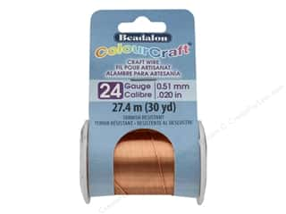 craft & hobbies: Beadalon ColourCraft Tarnish Resistant Copper Wire 24 ga Copper 30 yd