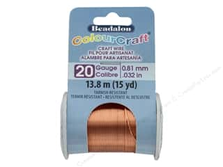 craft & hobbies: Beadalon ColourCraft Copper Wire 20 ga Copper 15 yd