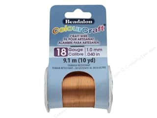 craft & hobbies: Beadalon ColourCraft Copper Wire 18 ga Copper 10 yd