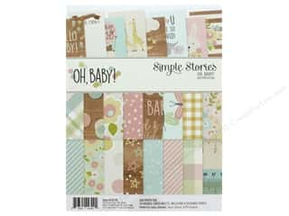 scrapbooking & paper crafts: Simple Stories Collection Oh Baby Paper Pad 6 in. x 8 in.