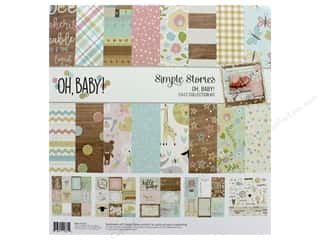 Simple Stories Collection Oh Baby Collection Kit 12 in. x 12 in.