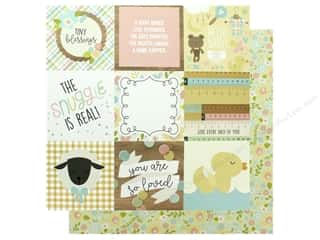 Simple Stories Collection Oh Baby Paper 12 in. x 12 in. Elements 4 in. x 4 in. (25 pieces)