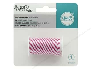 twine: We R Memory Happy Jig Bakers Twine Wire Pink 3 yd