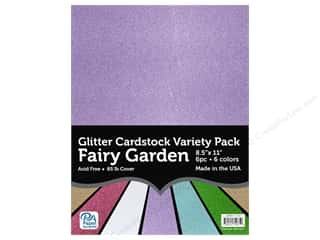 Paper Accents Glitter Cardstock Variety Pack 8 1/2 x 11 in. Fairy Garden 6 pc.