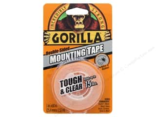 glues, adhesives & tapes: Gorilla Glue Mounting Tape Tough & Clear 60""
