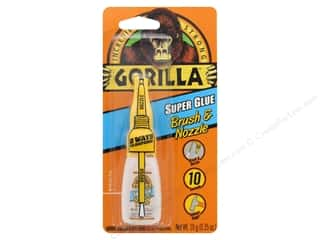 glues, adhesives & tapes: Gorilla Glue Super Glue Brush & Nozzle .35 oz