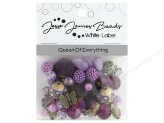 beading & jewelry making supplies: Jesse James Bead White Label Design Element Queen Of Everything