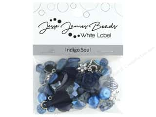 craft & hobbies: Jesse James Bead White Label Design Element Indigo Soul