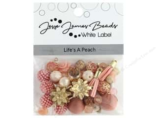 beading & jewelry making supplies: Jesse James Bead White Label Design Element Life's A Peach