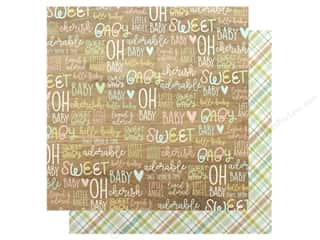 Clearance: Simple Stories Collection Oh Baby Paper 12 in. x 12 in. Adorable (25 pieces)