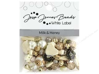 beading & jewelry making supplies: Jesse James Bead White Label Design Element Milk & Honey