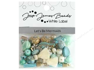 beading & jewelry making supplies: Jesse James Bead White Label Design Element Lets Be Mermaids