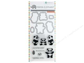 Mama Elephant Clear Stamp & Die Set Panda