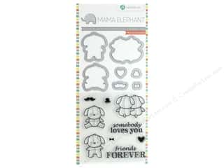 scrapbooking & paper crafts: Mama Elephant Clear Stamp & Die Set Lovely Puppy