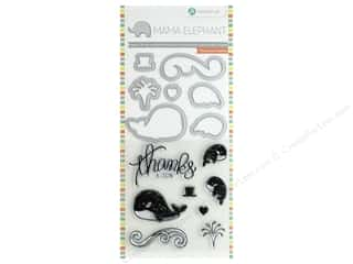 Mama Elephant Clear Stamp & Die Set Whale Thanks