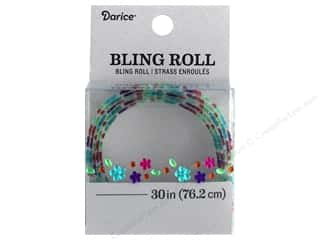 Darice Sticker Bling Roll Flower/Round Gem 30 in. Multi