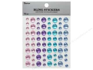 craft & hobbies: Darice Sticker Bling Rhinestone Pastel 72 pc