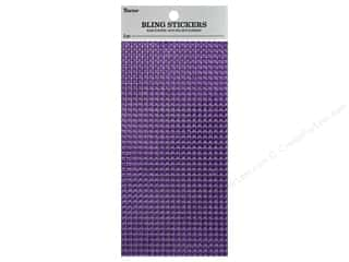 craft & hobbies: Darice Sticker Bling Sheet 3.5 in. x 7 in. Rhinestone Violet