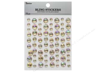 gems: Darice Sticker Bling Rhinestone Rose Gold 72 pc
