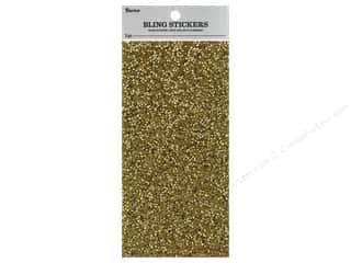 Darice Sticker Bling Sheet 3.5 in. x 7 in. Crackled Gem Gold