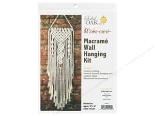 craft & hobbies: Solid Oak Kit Macrame Wall Hanger Dual Spirals