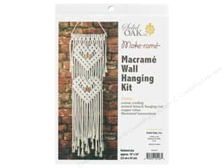 Solid Oak Kit Macrame Wall Hanger Hearts