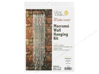 craft & hobbies: Solid Oak Kit Macrame Wall Hanger Three Flowers
