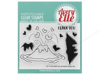 stamp cleaned: Avery Elle Clear Stamp Lava You