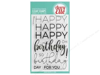 sentiment stamps: Avery Elle Clear Stamp Big Birthday
