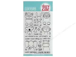 stamp cleaned: Avery Elle Clear Stamp Peek A Boo Pals