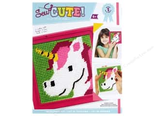yarn & needlework: Colorbok Kit Learn To Needlepoint Unicorn